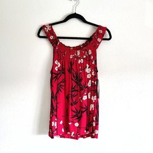 Bamboo Forest Cherry blossom tank blouse